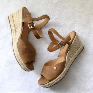 Tommy Hilfiger Gallie Peep Toe Wedge Sandals